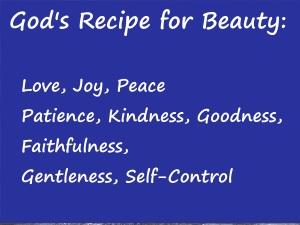 God's Recipe for Beauty