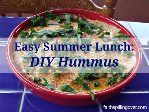 Easy summer lunch hummus