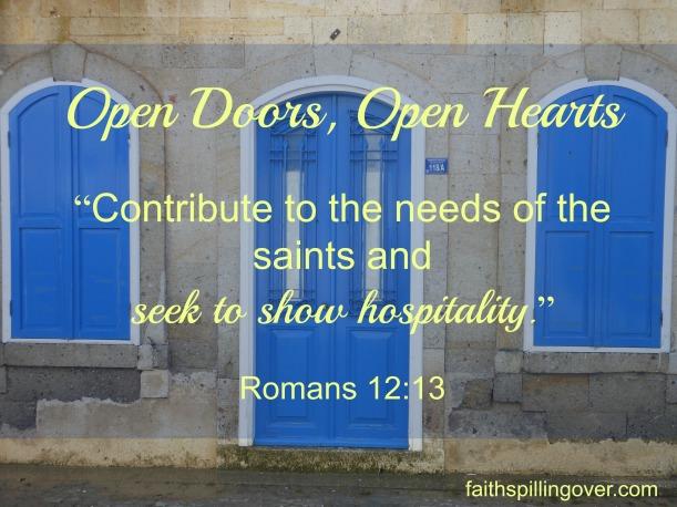 Open doors, open hearts