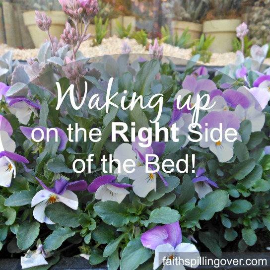 Waking Up on the Right Side of the Bed!