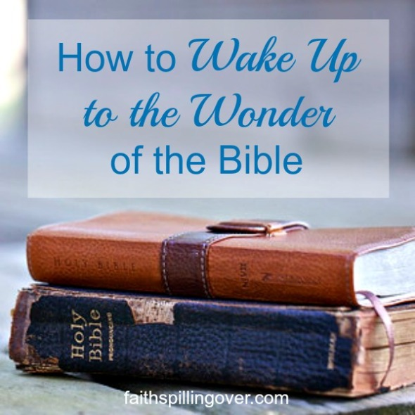 If you're going through a dry spell when the Bible seems silent, here are 4 ways to wake up to the wonder of God's Word.