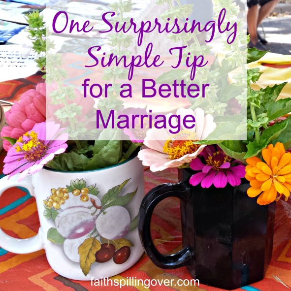 One surprisingly simple tip that you can try for one week for a better marriage.