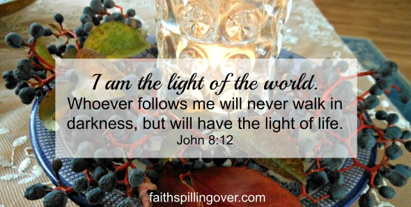 Jesus Light of the World Scripture.